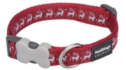 Red Dingo Christmas Dog Collar Reindeer